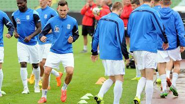 Lech Poznań trenuje na Stadionie Olimpijskim w Sarajewie przed meczem z FK Sarajevo. Denis Thomalla