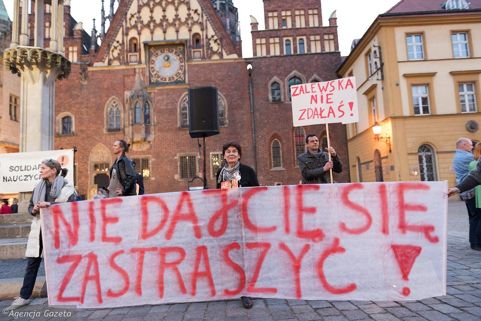 Manifestacja 'Wrocław z nauczycielami'