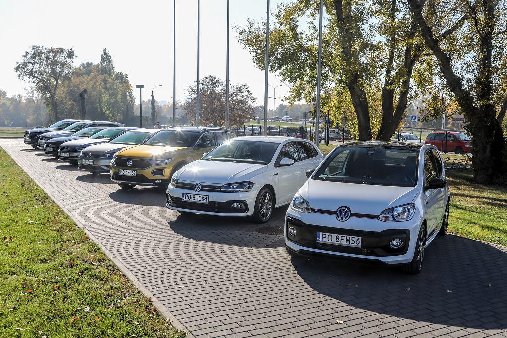 W ekorajdzie wystartowało 8 modeli VW - od miejskiego Up!a po wielkiego Touarega