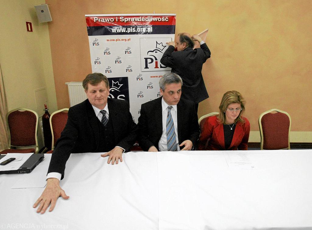 Posłowie Jerzy Gosiewski, Jerzy Szmit i Iwona Arent