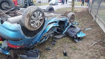 Wypadek w Gosławicach