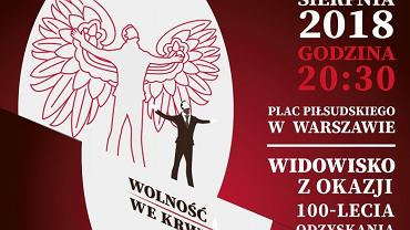 Fragment plakatu, który promuje widowisko 'Wolność we krwi'