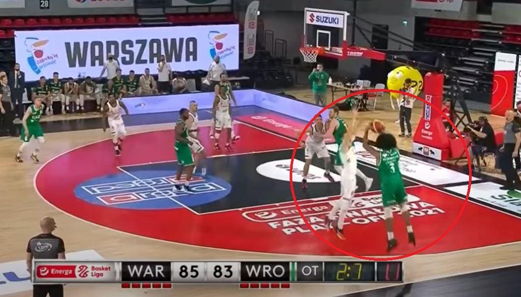 Zwycięstwo na 0,7 sekund przed końcem! Elijah Stewart bohaterem Śląska Wrocław [WIDEO]