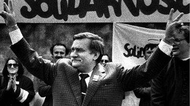 Lech Wałęsa w maju 1989 roku