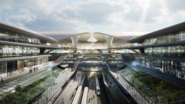 Jeden z trzech wariantów przedstawionych przez biuro projektowe Zaha Hadid Architects