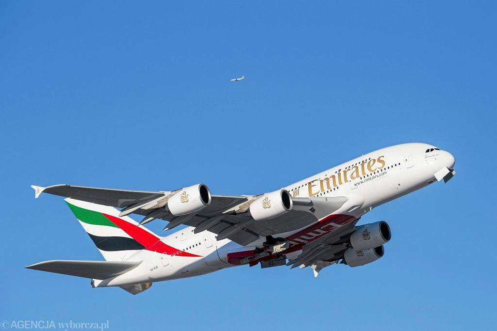 Samolot Airbus A380 linii Emirates