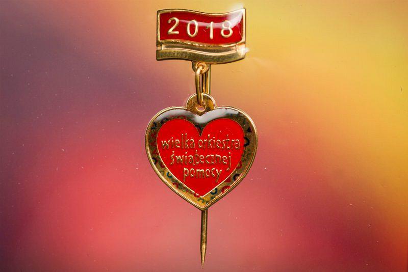 Złote serduszko WOŚP 2018
