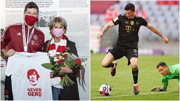 Lewandowski przekazał piękny prezent Gerdowi Muellerowi przez jego żonę na spotkaniu w muzeum Bayernu