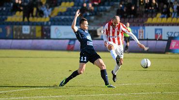 Marcin Robak w meczu z Cracovią
