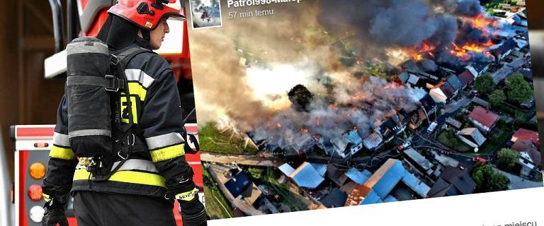 Pożar w Nowej Białej. Ogień zajął kilkadziesiąt budynków