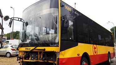 Wypadek z udziałem autobusu miejskiego Arriva