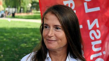 Monika Jaruzelska podczas samorządowej kampanii wyborczej we wrześniu 2018 r. Była wówczas 'jedynką' SLD w jednym z okręgów w Warszawie, zdobyła 8,5 tys. głosów.