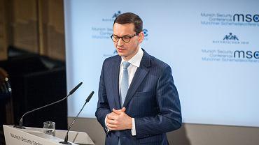 17.02.2018, Monachium, premier Mateusz Morawiecki na Konferencji Bezpieczeństwa.