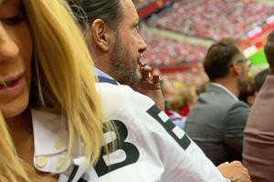 Małgorzata Rozenek z mężem na meczu Polska-Austria