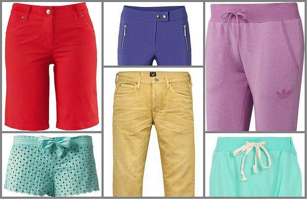 Kolorowe spodnie i szorty - nosicie?