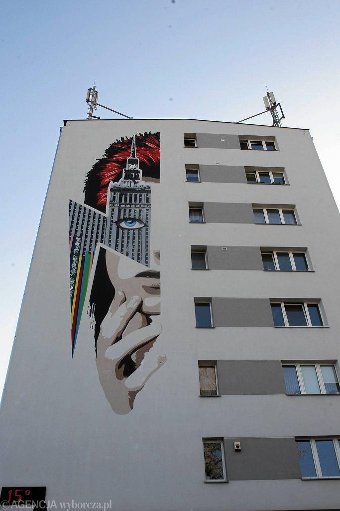 David Bowie został upamiętniony na muralu na Żoliborzu w Warszawie / PRZEMEK WIERZCHOWSKI