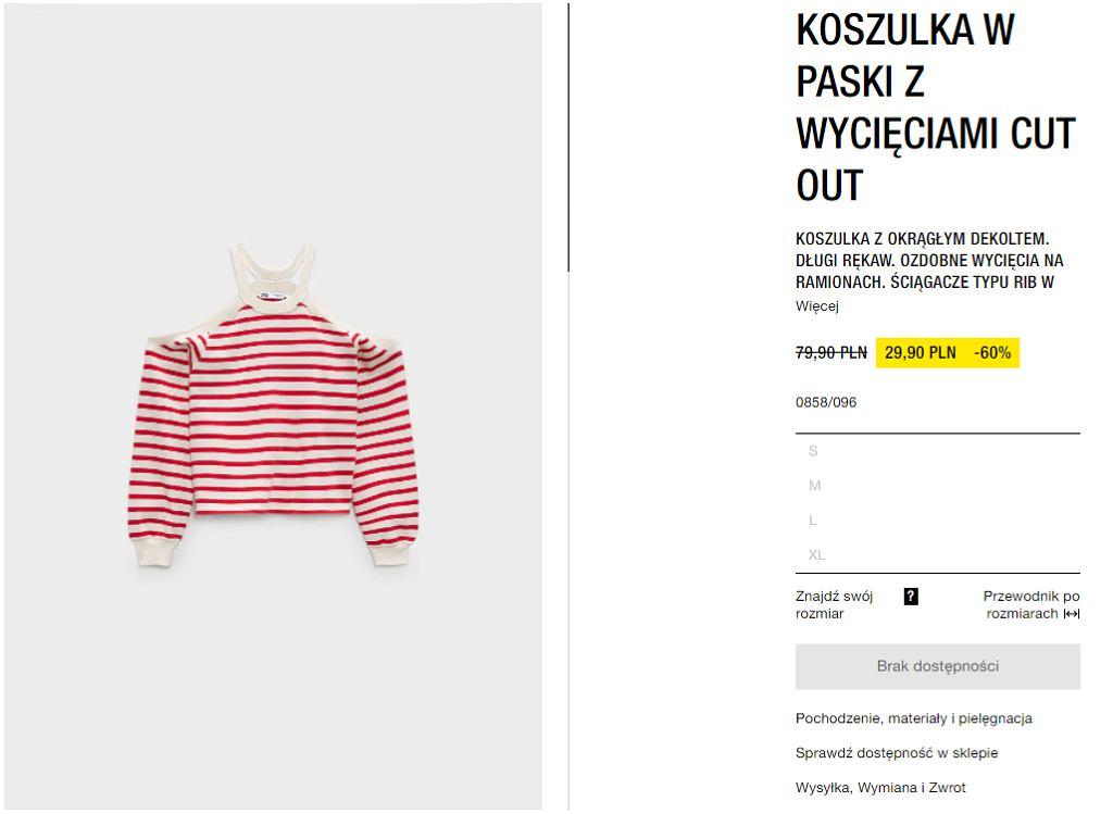 bluzka w paski Zara