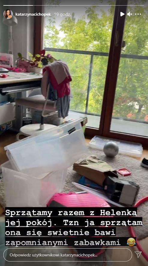 Katarzyna Cichopek pokazła pokój córki