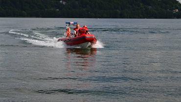 Akcja ratunkowa na jeziorze