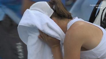 Iga Świątek we łzach po porażce na igrzyskach olimpijskich