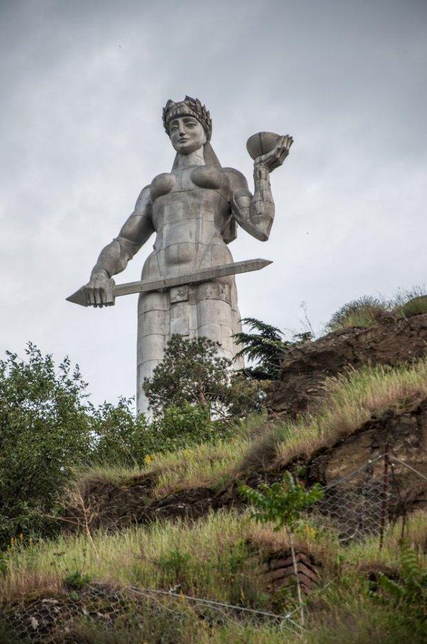 Tbilisi, Gruzja. Pomnik Matki Gruzji