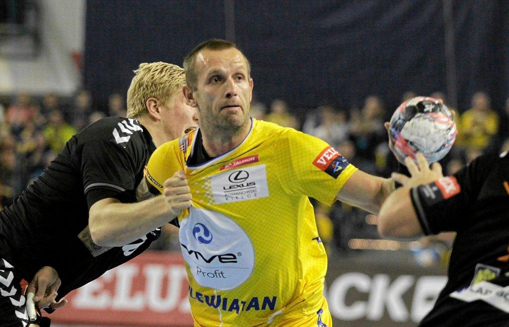Grzegorz Tkaczyk podczas meczu Vive Tauron Kielce - IFK Kristianstad