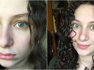 Puszące Się Włosy Puszące Się Włosy Kobieta