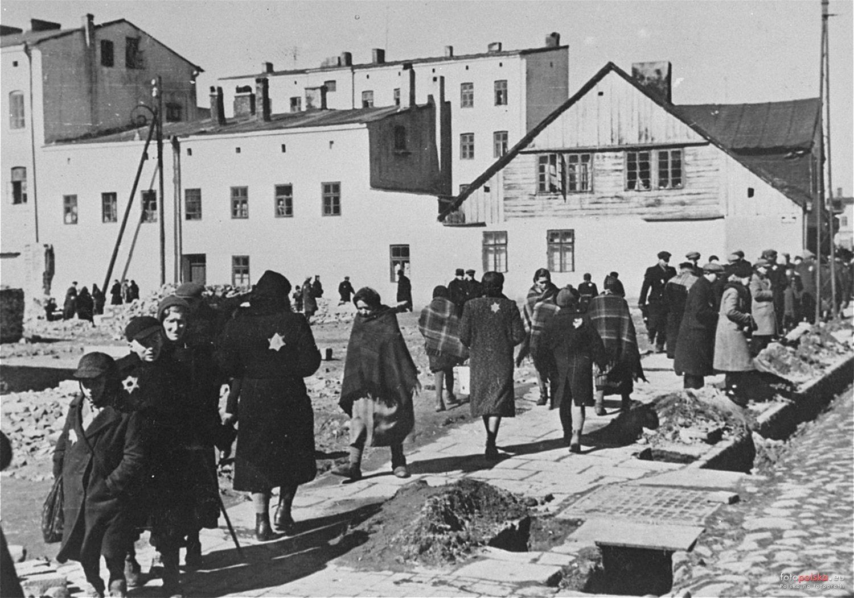 Getto w Łodzi (fot. United States Holocaust Memorial Museum)