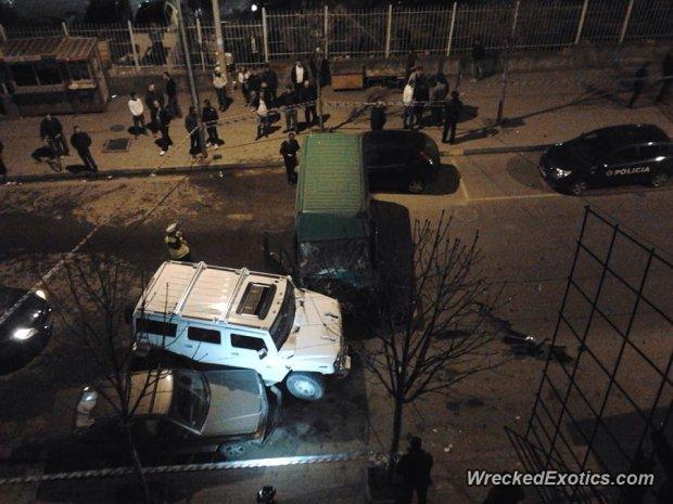 Wypadek Hummera H2 w Albanii