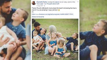Carter jest dumna ze swojej rodziny.