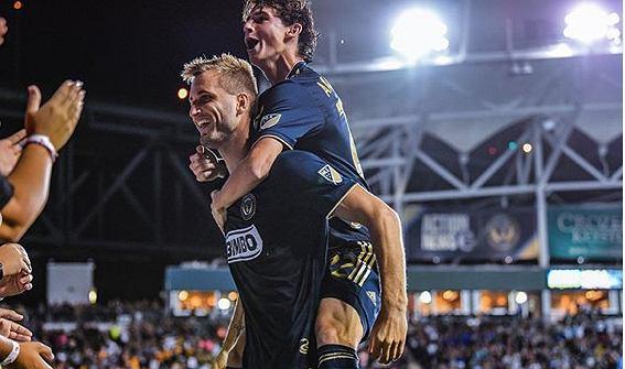 Kacper Przybyłko w meczu Philadelphii Union. Źródło: Instagram (Kacper Przybyłko)