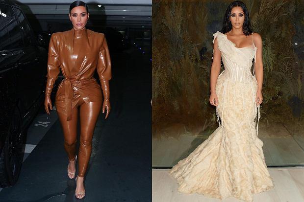 Kreacje wyjściowe Kim Kardashian
