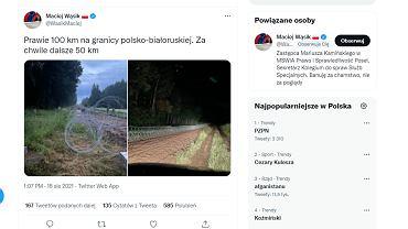 Drut kolczasty na polskiej granicy