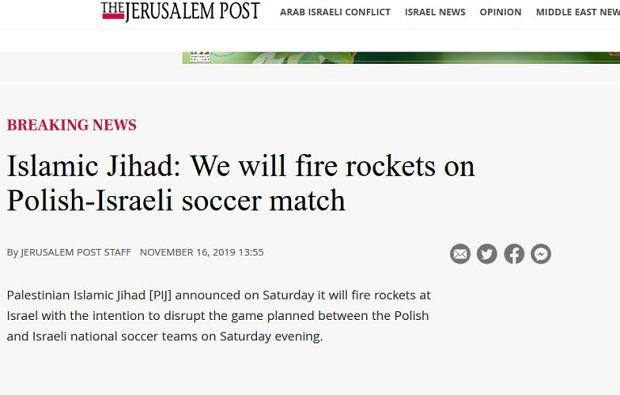 'The Jerusalem Post' napisało o możliwym ataku rakietowym