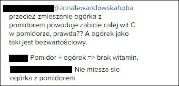 Internauci o wpisie Anny Lewandowskiej