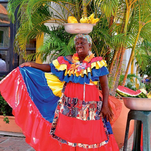 Sprzedawczyni owoców -Cartagena, Kolumbia