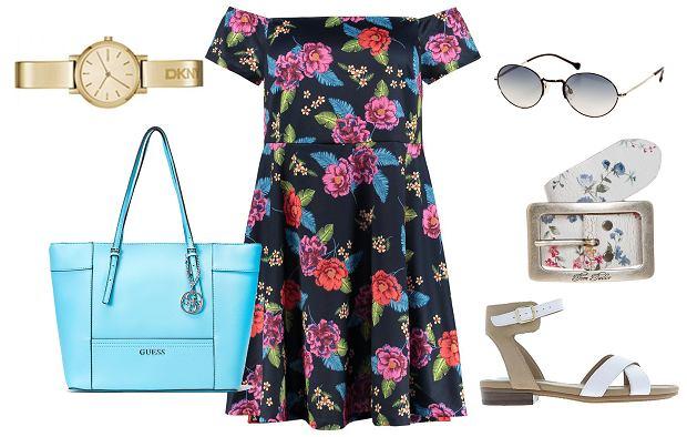 Sukienka dla puszystych w kwiaty