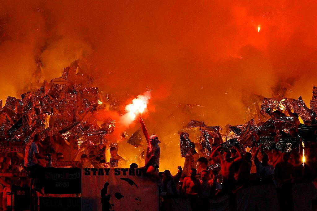 Sektor gości w meczu Lazio - Legia