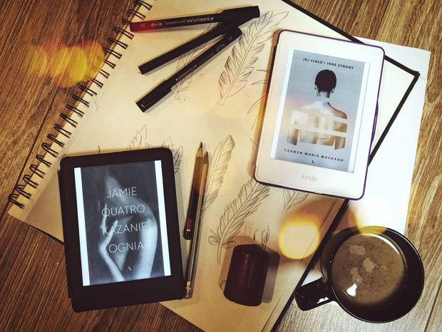 Książki 'Kazanie ognia' oraz 'Jej ciało i inne strony' w formie e-booków