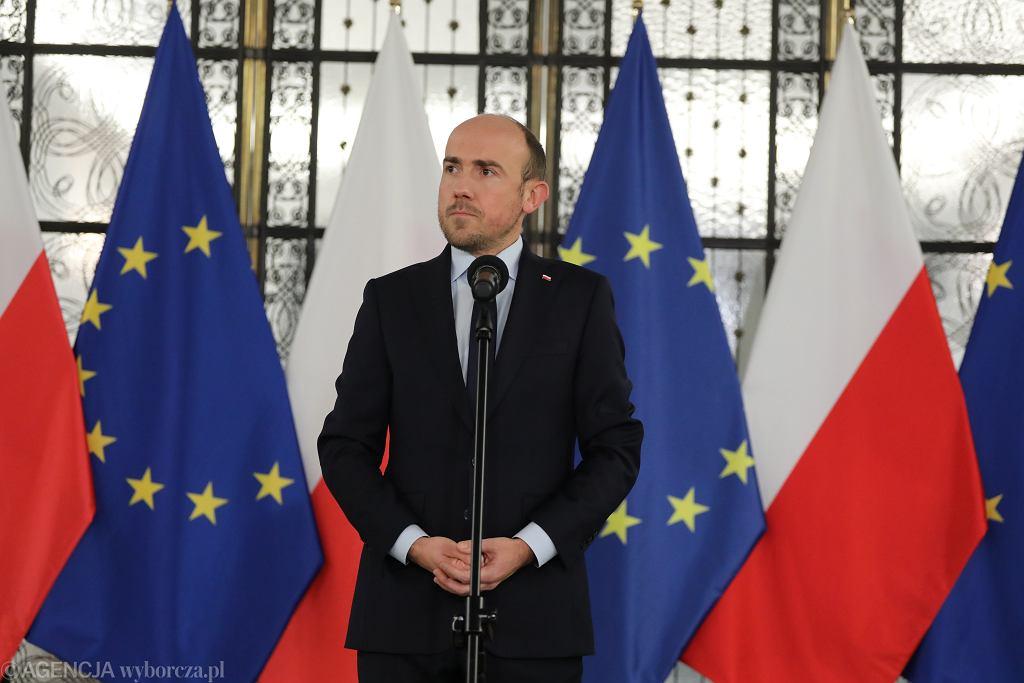 Konferencja szefa PO Borysa Budki. Warszawa, Sejm, 9 grudnia 2020