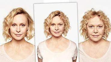 Ile mamy z mamy? Niektóre zestawienia połówek twarzy zaskakują podobieństwem. Na zdjęciu Paulina Holtz i Joanna Żółkowska