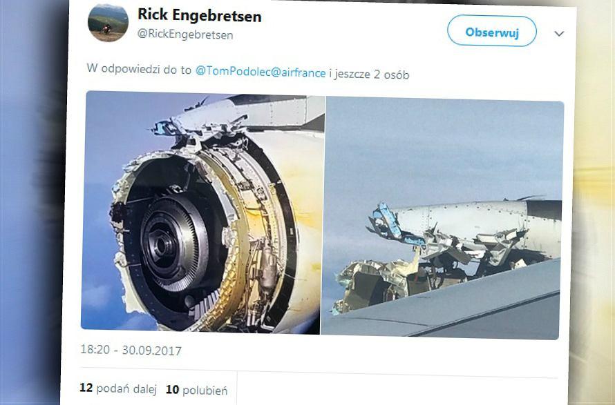 Uszkodzony samolot