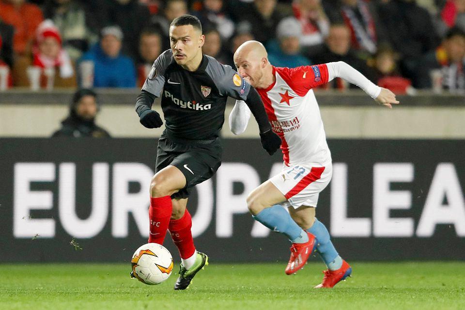 Slavia Praga w meczu z Sevillą FC