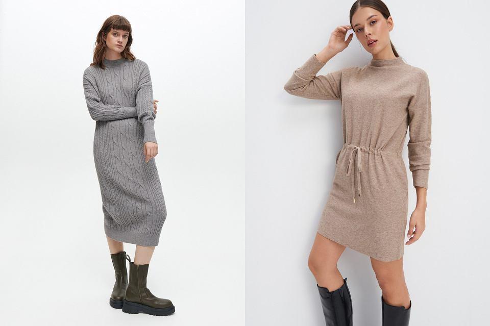sukienki ze stójką