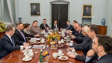 Spotkanie w Pałacu Prezydenckim dotyczące sądownictwa