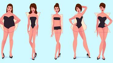 Sylwetki kobiet. Jabłko, gruszka, kolumna, trójkąt,. Sprawdź jaką masz figurę