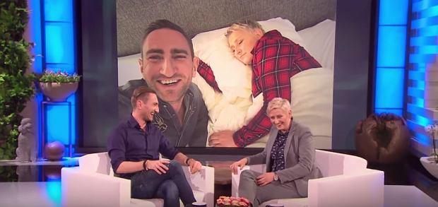 Łukasz Jakóbiak z 'sztuczną Ellen'