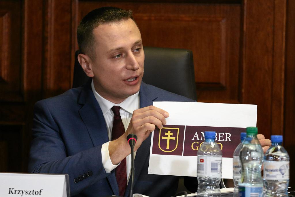 Poseł Krzysztof Brejza, członek komisji śledczej dot. Amber Gold, 24 października 2017.