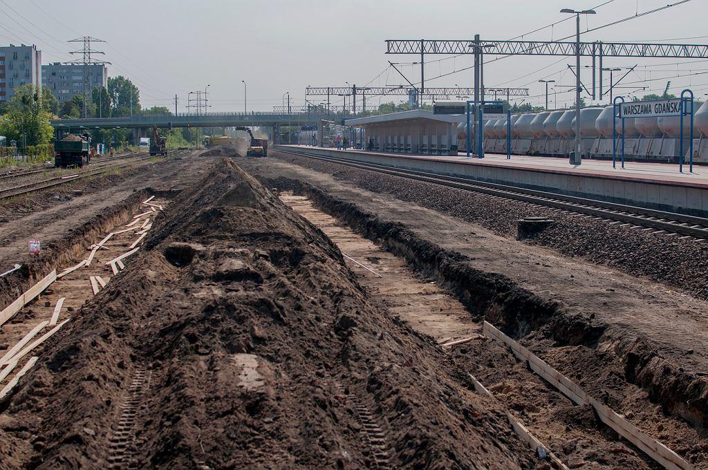 Budowa trzeciego peronu na stacji Warszawa Gdańska