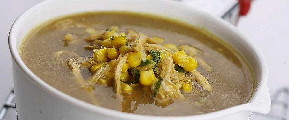 Zupa z kurczaka i kukurydzy